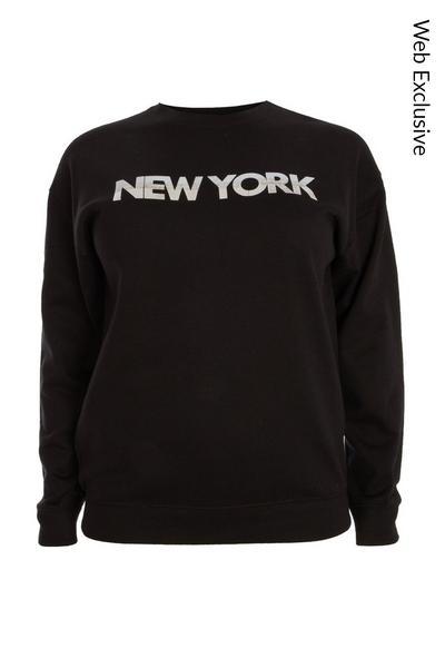 Black 'New York' Sweatshirt